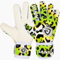 户外运动足球守门员手套 彩豹纹系列带护指门将手套 新款儿童运动防护手套