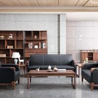 实木办公桌椅 组合老板桌 现代简约总裁桌 大班台时尚主管