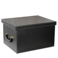 韩国皮质收纳储物箱 创意大号有盖杂物整理盒