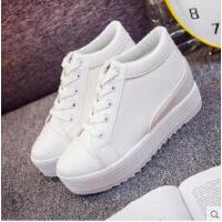 新款厚底休闲白鞋内增高女鞋韩版潮流学生百搭网红小白鞋