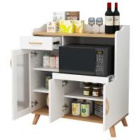 北欧现代简约餐边柜厨房柜子储物靠墙家用碗柜北欧微波炉茶水客厅