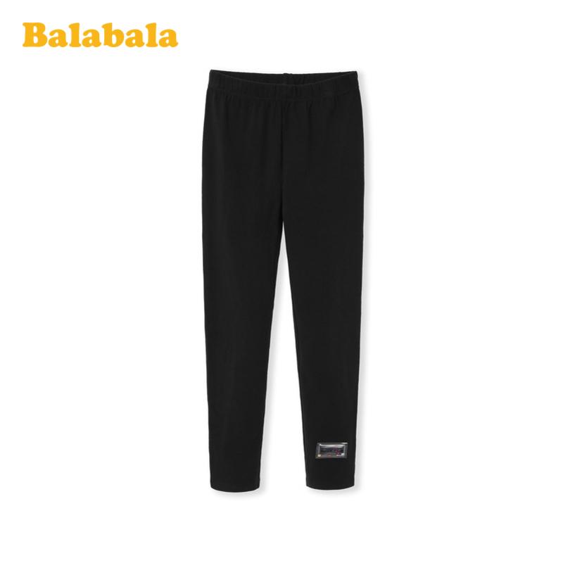 巴拉巴拉女童打底裤2020新款春装儿童裤子中大童弹力透气简约百搭