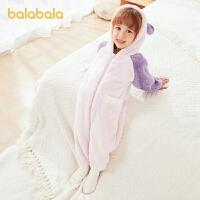【2件6折:113.4】巴拉巴拉�和�家居服套�b男童女童�B�w睡衣冬季珊瑚�q小童����可��