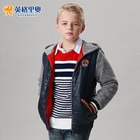 儿童棉衣加厚男童棉袄新款英格里奥秋冬款儿童衣服韩版厚棉衣 1564