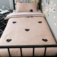 粉色宿舍床上三件套少女心床单被单枕套ins风单人简约韩版学生3