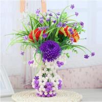 手工DIY串珠编织实色花瓶玫瑰花家居客厅创意摆件饰品工艺品散珠