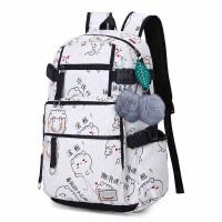 双肩包女韩版印花时尚新款学院风潮流旅行包背包 中学生书包礼品