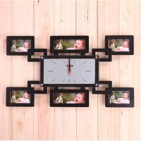 20191217075128090红兔子 排列相框 创意挂钟/创意钟表/时尚挂钟