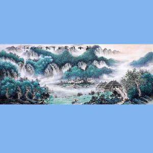 中国青年美术家协会常务理事,中国扇子艺术学会会员,中国山水画院专业画家,国家一级美术师高云鹏(春风作彩染千树)