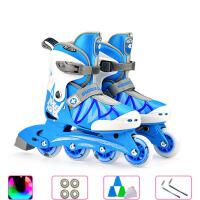 男滑冰鞋溜冰鞋初学者女直排轮旱冰鞋轮滑鞋儿童全套装3-6岁