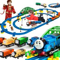 音乐电动轨道火车托马斯小火车头套装多层益智男孩玩具车儿童礼物