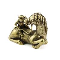 古玩青铜器铜黄铜马上猴家居客厅办公室工艺品楼盘桌面摆设收藏