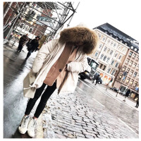 反季节大毛领羽绒服女短款宽松时尚白鸭绒外套2018新款派克大码潮