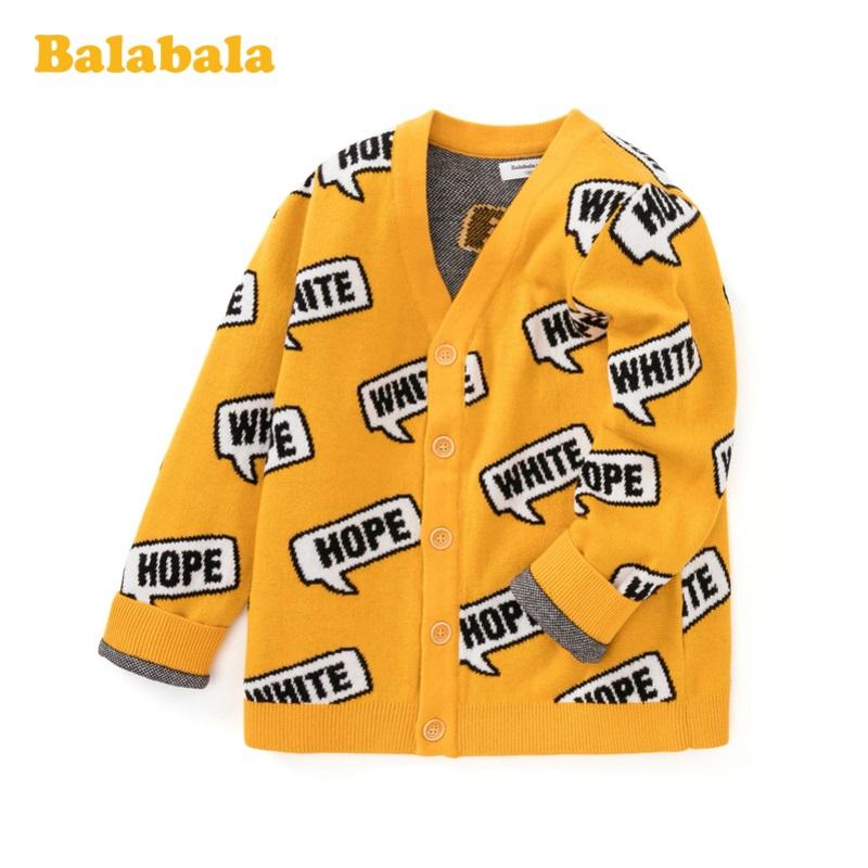 巴拉巴拉宝宝毛衣儿童针织衫男童春装2020新款纯棉洋气开衫上衣