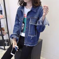 牛仔外套女2018秋季韩版新款宽松百搭青少年初中学生长袖短款外衣