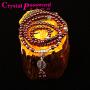 水晶密码CrystalPassWord 原创天然巴西石榴石藏银佛珠手链SJMM3-025