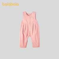 巴拉巴拉初生宝宝衣服新生儿哈衣爬服婴儿连体衣无袖清凉舒适萌趣春秋
