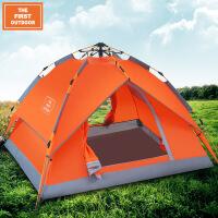 美国第一户外全自动露营帐篷2-3-4人野外速