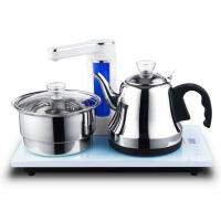 自动上水电热水壶茶具套装304不锈钢三合一 不锈钢304套装