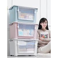 特大�前�_式收�{箱塑料透明玩具零食整理箱衣物�乳_�ξ锵涫占{盒
