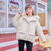 毛菇小象冬chic外套女新款连帽加厚保暖小棉袄宽松小个子棉衣