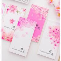 日系简约樱花可撕便签本 横线方格空白便签纸随身记录手账小本子