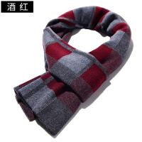 围巾男冬季英伦格子百搭加厚保暖韩版简约百搭学生商务围脖