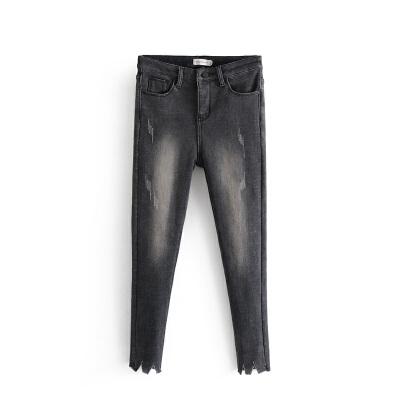 女装秋冬欧美风水洗磨白加绒加厚牛仔裤女时尚铅笔裤潮 一般在付款后3-90天左右发货,具体发货时间请以与客服协商的时间为准