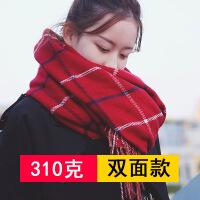 围巾女秋冬季格子韩版长款时尚百搭学生披肩女流苏加厚仿羊绒围脖