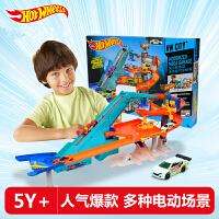 风火轮Hotwheels火辣小跑车多功能汽车世界轨道套装男孩玩具 BGJ18