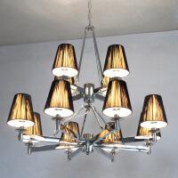照明吊灯客厅灯双层复式客厅吊灯现代简约风格双层8+4头意大利设计轻奢镀 图片色