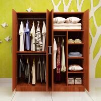 简易组装衣柜实木质板式组合整体衣柜2门3门4门大衣柜衣橱