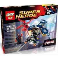 乐拼07030超级英雄蜘蛛侠屠杀神盾局空中大战积木人仔益智玩具