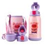 【限时秒杀】杯具熊(BEDDYBEAR)儿童保温杯316不锈钢带吸管直饮三盖水壶630ml 3D版-生肖猪