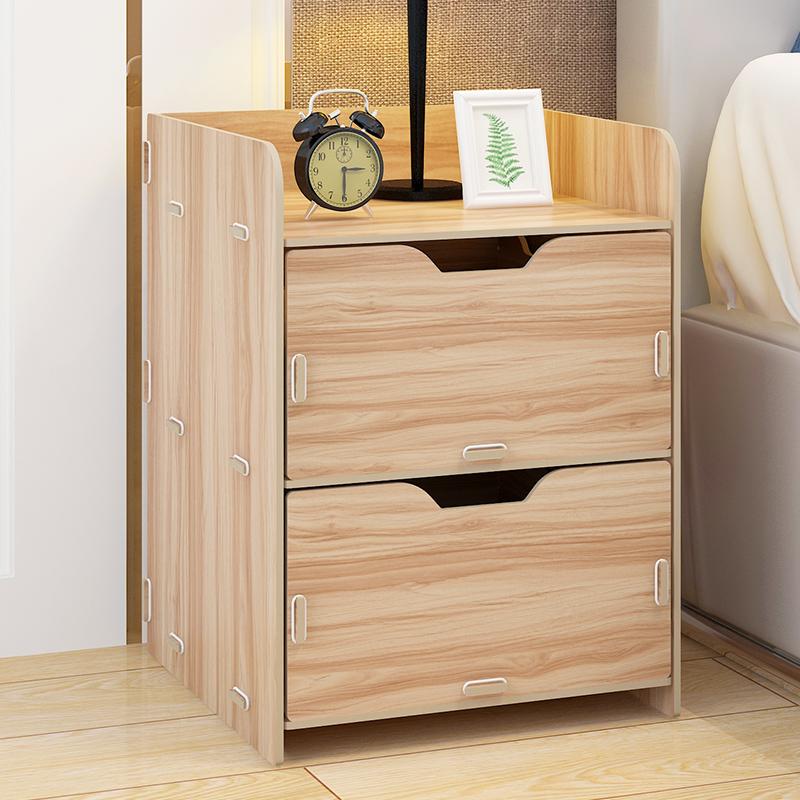 亿家达简易床头柜简约床边小柜子卧室储物柜经济型收纳柜简约现代 轻便实用