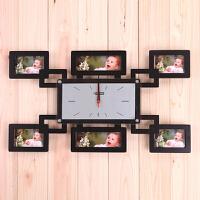 20191213044609565红兔子 排列相框 创意挂钟 创意钟表 时尚挂钟