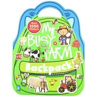 【中商原版】有趣贴纸背包 农场主题 英文原版 My Busy Farm Backpack 贴纸书 玩具书 活动书