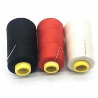 黑线 缝 缝衣线缝纫线402线宝塔线缝衣服的线家用白线缝纫机线手缝线 白色一卷(送针)