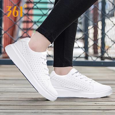 361度女鞋厚底运动鞋361夏季白色网眼透气软底休闲板鞋学生小白鞋581826619