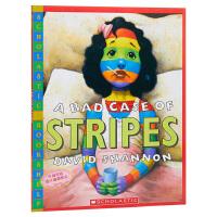 【中商原版】糟糕,身上长条纹了 英文原版 A Bad Case of Stripes 大卫香农