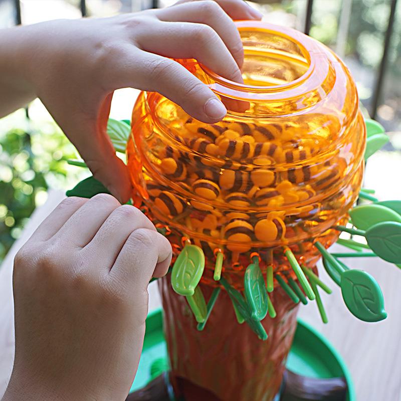 小乖蛋蜜蜂树亲子互动桌游游戏儿童专注力逻辑思维训练益智类玩具 正品授权