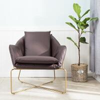 单人沙发椅工业风办公室简约现代接待洽谈会客休息区桌椅组合