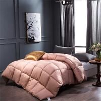 贝赛亚纤维被 保暖羽丝绒冬被春秋被芯 双人被子200*230cm 粉色
