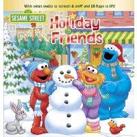 英文原版 芝麻街:假日朋友 纸板翻翻书 Holiday Friends (Sesame Street)