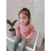 女童毛衣套头秋新款韩版儿童宝宝高领针织衫加厚打底衫1-2-3岁4