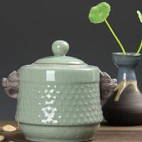 尚帝 哥窑开片裂纹茶叶罐 陶瓷密封罐茶叶储存罐 礼盒包装XM037DYPG1