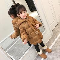 女童棉衣2017韩版新款羽绒装百搭中长款儿童棉袄童装外套潮