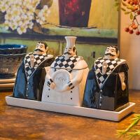 陶瓷调味罐套装创意厨房用品调料罐密封罐调料盒