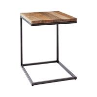 北欧铁艺金属实木小边几角型转角边桌角几欧式沙发U型茶几正方形