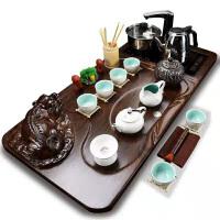 白瓷水滴招�貔貅四合一套�b紫砂功夫茶具套�b整套家用茶�夭璞���